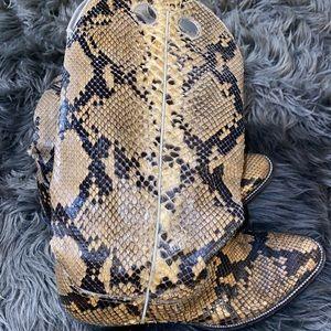 hondo snake skin boots - 100% snake skin